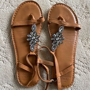 Abercrombie & Fitch jeweled sandals
